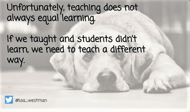 teaching does not equal learning