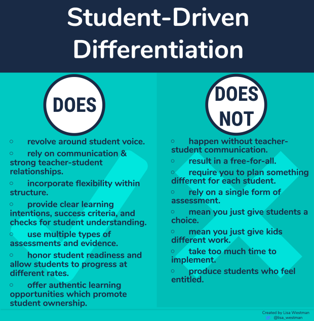 student driven differnetiation